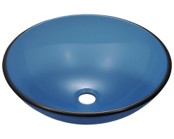 S106A Colored Glass Vessel Sink